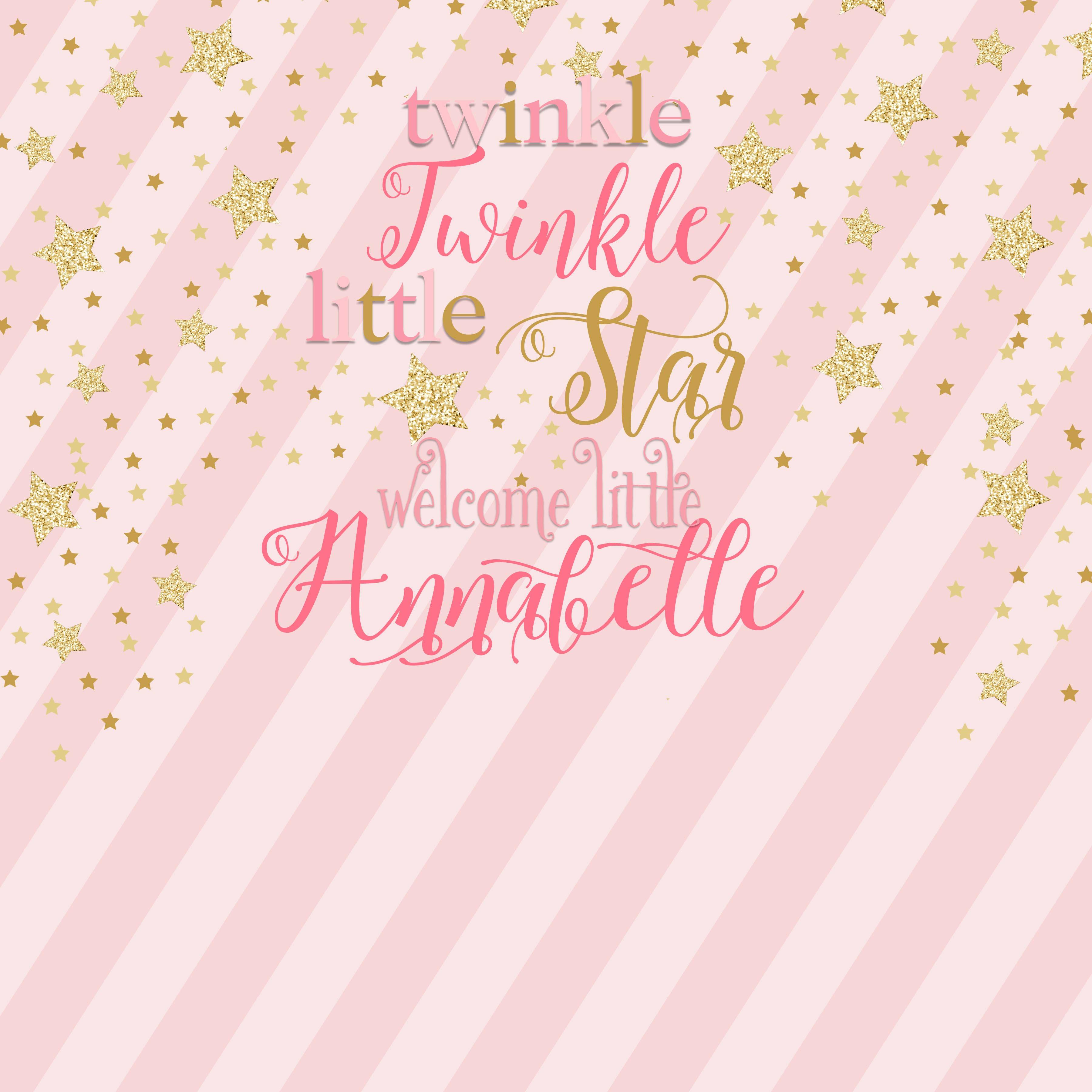 Twinkle Little Star Girl Photo Booth Backdrop