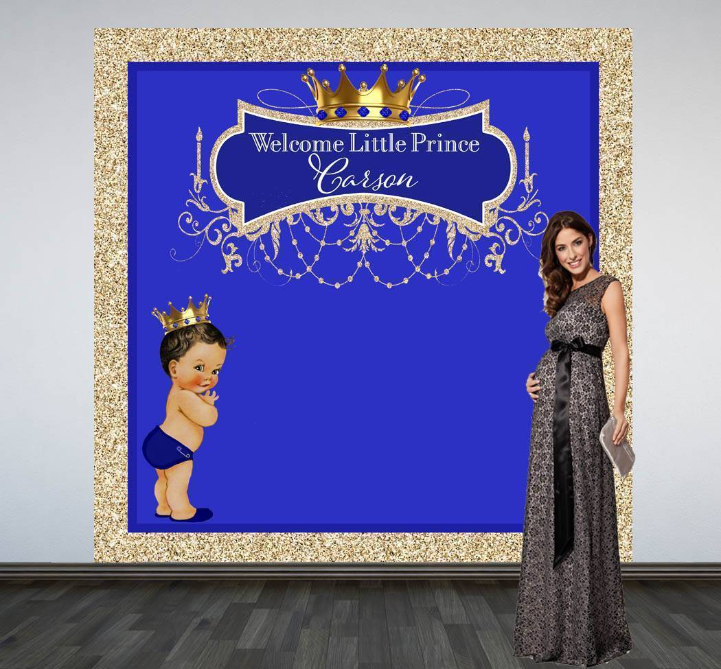royal prince glitter photo booth backdrop